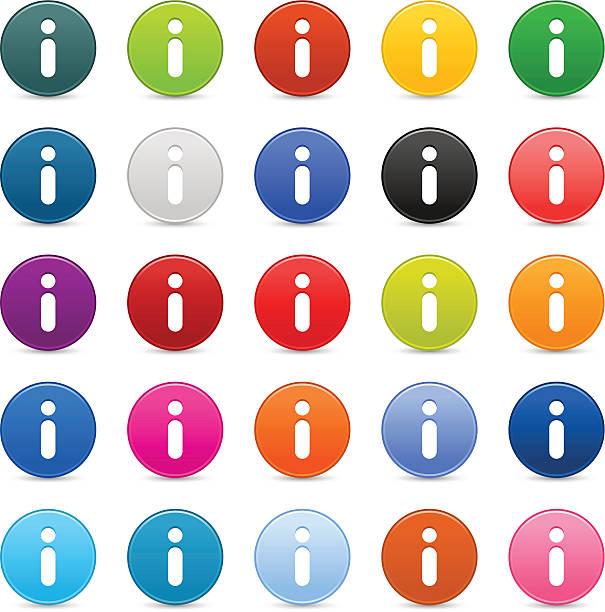 Hinweisschild satin-Kreis-Symbol web und internet