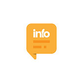 istock Information Speech Bubble Icon Vector Design. 1276666127
