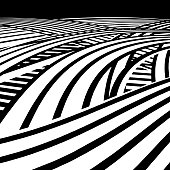 Black and white vector of the Information Super Highway or Cyberspace