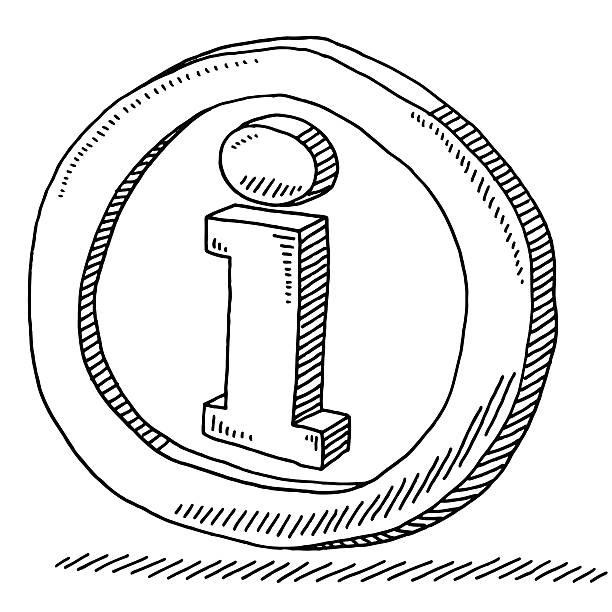 Information Symbol Drawing vector art illustration
