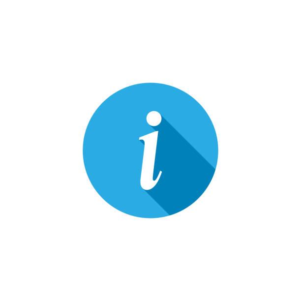 stockillustraties, clipart, cartoons en iconen met informatie symbool platte vector illustratie. informatie teken platte vector icoon. - informatiemedium