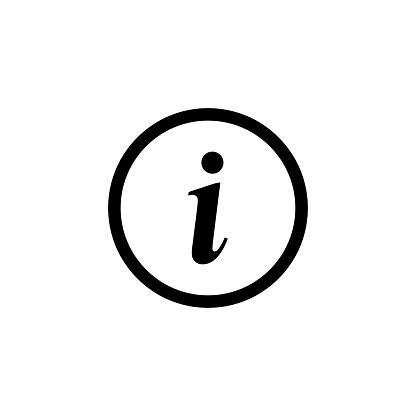 Information symbol vector icon illustration. Information sign vector icon.