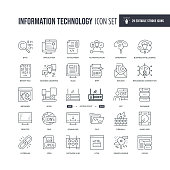 29 Information Technology Icons - Editable Stroke - Easy to edit and customize - You can easily customize the stroke with