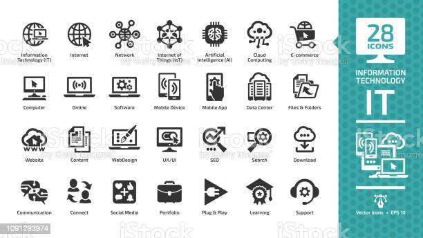 Information technology glyph icon set with it network system global vector id1091293974?b=1&k=6&m=1091293974&s=612x612&h=llu6zpuib15gn3rs2z foguqpbscrtfsibtyt5j0  o=