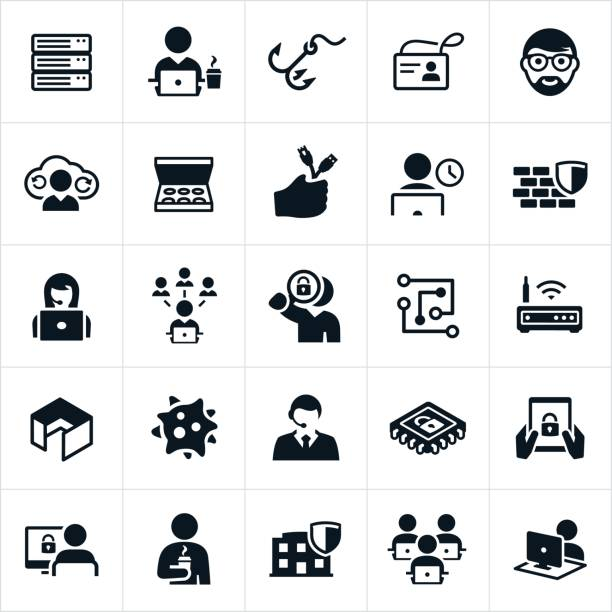 informationen technologie icons - farbchips stock-grafiken, -clipart, -cartoons und -symbole