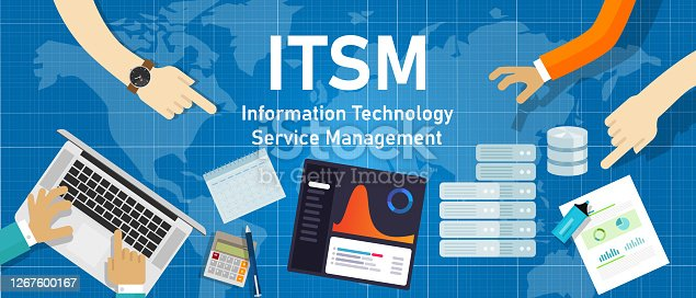 ITSM information technology service management quality management computing systemic solution in vector