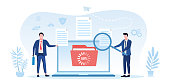 istock Information transaction between two businessmen 1213186774