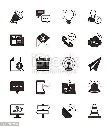 istock Information & Website icon on White Background Vector Illustration 477819932