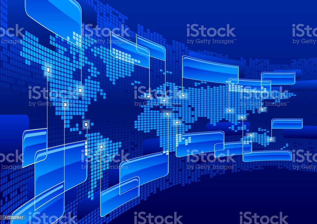 Information world global communications royalty-free stock vector art