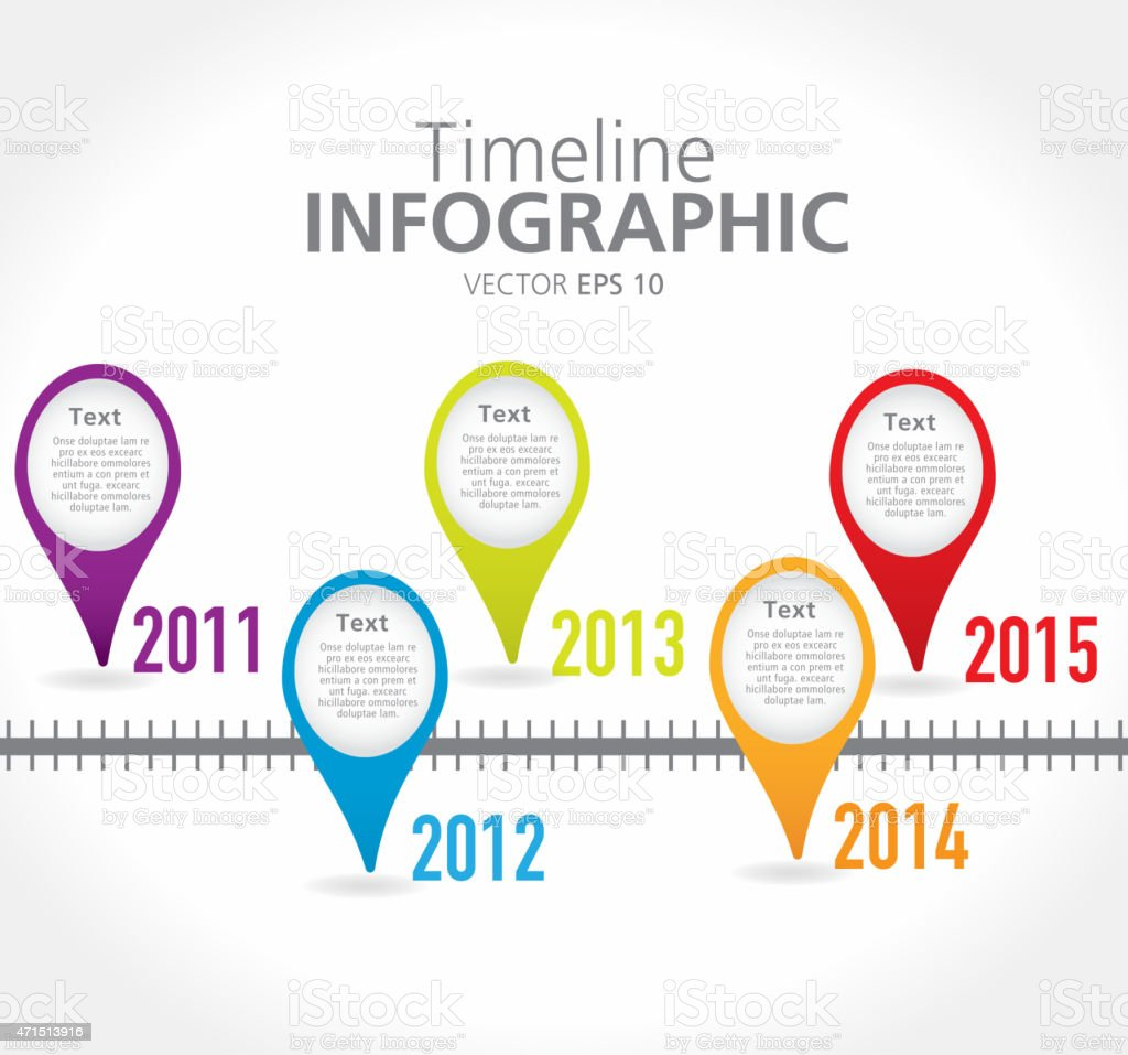 information yearly report timeline infographic with graph