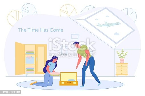 istock Informational Poster, the Time has come Adventure. 1203619913