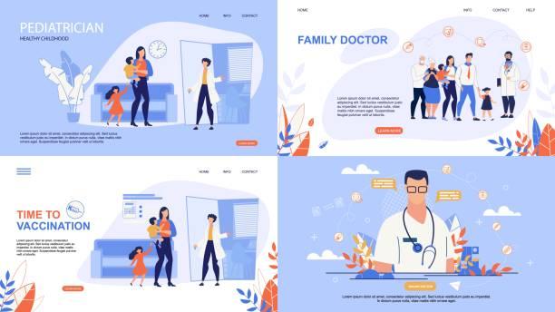 bildbanksillustrationer, clip art samt tecknat material och ikoner med informativ affisch inskription online doctor. - allmänläkare