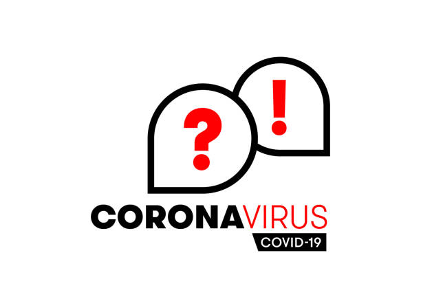 informing about coronavirus. main questions and answers about covid-19 for infographics. communication icons about viruses and bacteria vector illustration. unified visual appearance. - covid testing stock illustrations