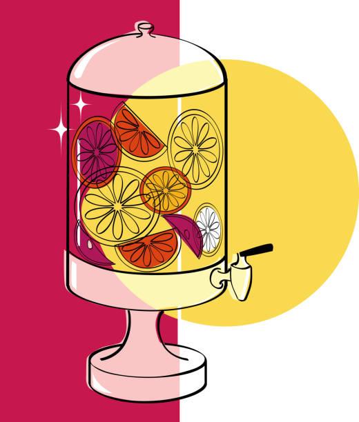 illustrations, cliparts, dessins animés et icônes de eau infusée pour l'été - infusion pamplemousse
