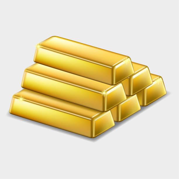 Ingots of gold – stock vector Ingots of gold – stock vector ingot stock illustrations