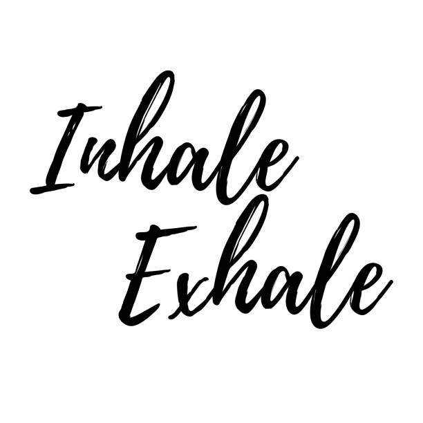 Inhale, exhale typography VECTOR Inhale, exhale typography VECTOR art inhaling stock illustrations