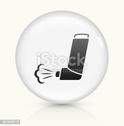 istock Inhaler icon on white round vector button 531848272