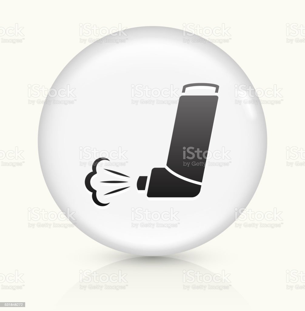 Inhaler icon on white round vector button vector art illustration