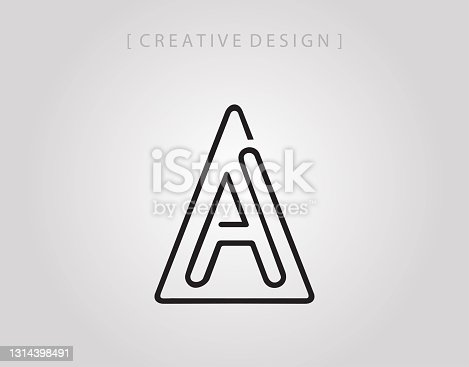 istock Initial A logo vector. Abstract Triangle letter A  logo icon design template. 1314398491