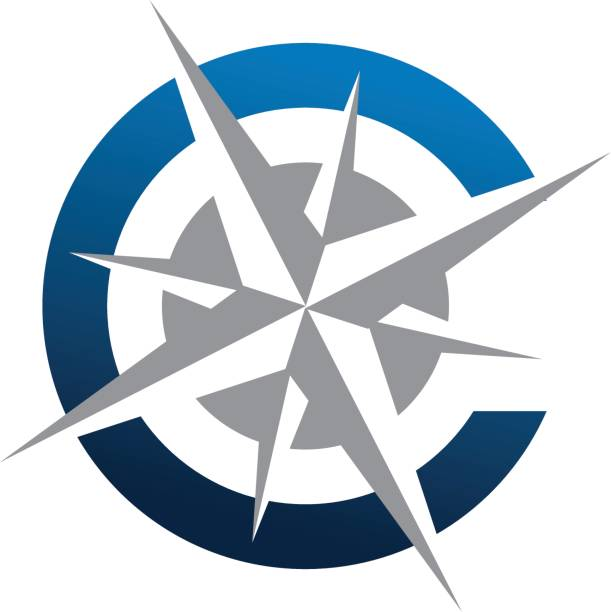 initial c compass - compass stock illustrations, clip art, cartoons, & icons