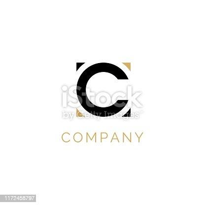 istock Initial C design using circle and square 1172458797
