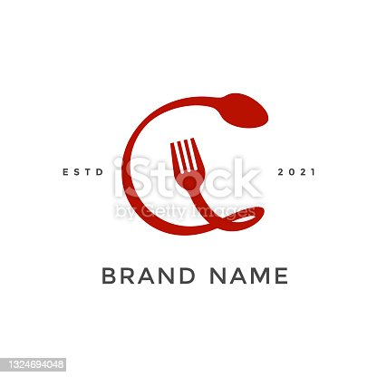 istock Initial C Fork and Spoon 1324694048