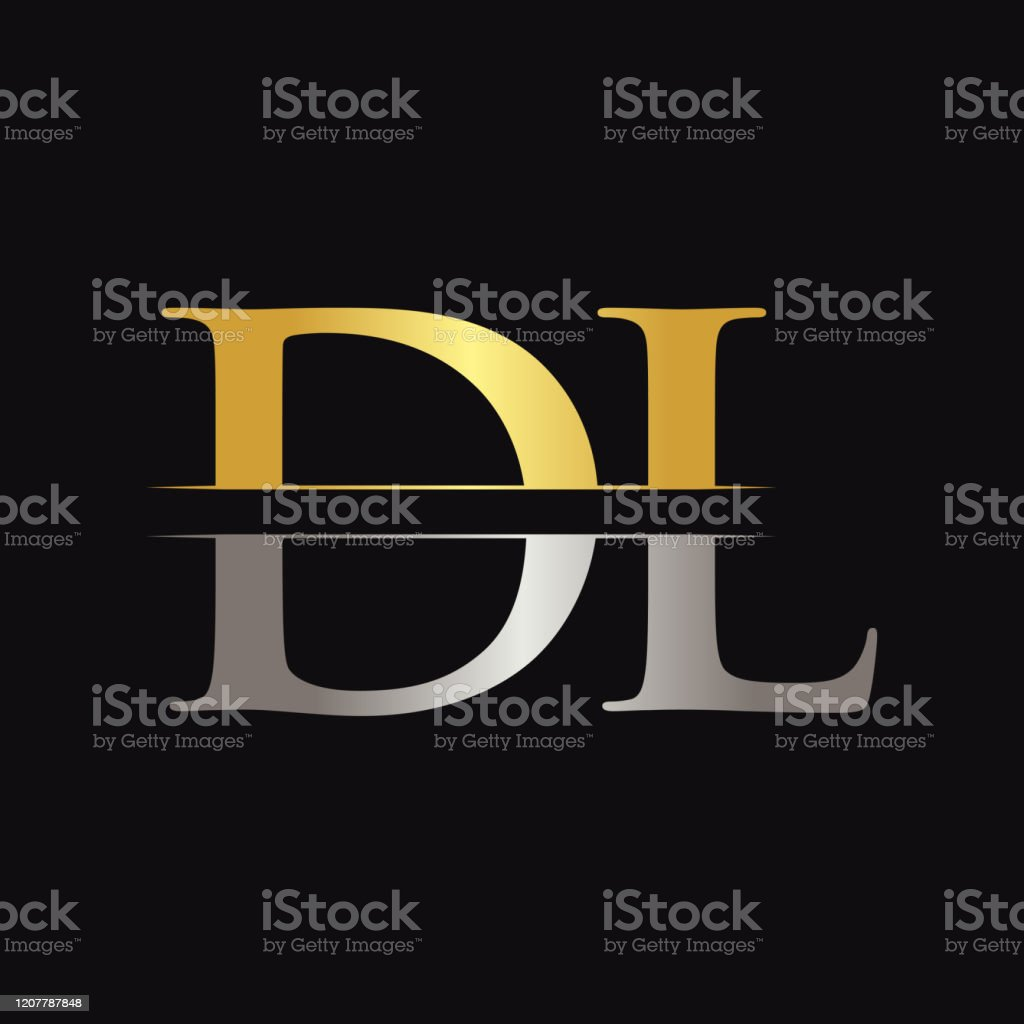 Initial Dl Letter Logo Design Vector With Gold And Silver Color Dl Logo Design Stock Illustration Download Image Now Istock