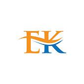 istock Initial EK letter business logo design vector template. EK logo design 1337560126