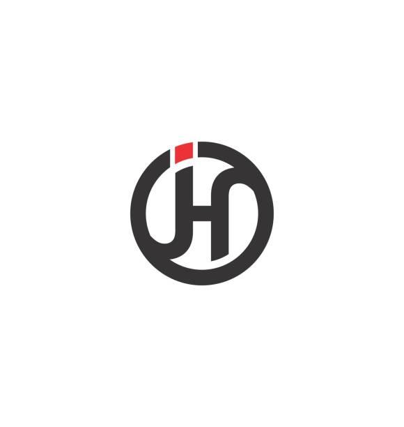 Initial J and H design inspiration image description letter j stock illustrations