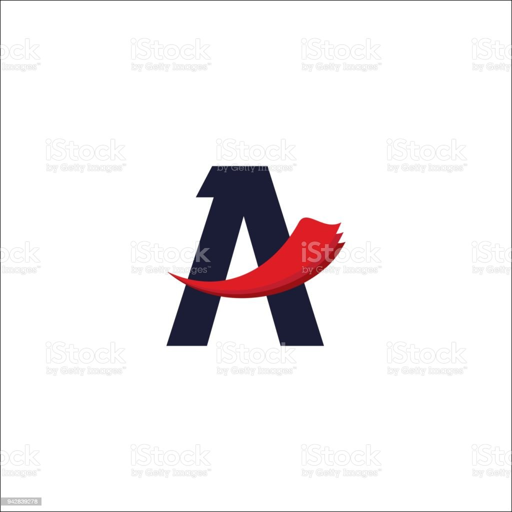 initial letter A logo. Air Travel Logo Design Template vector illustration. vector art illustration