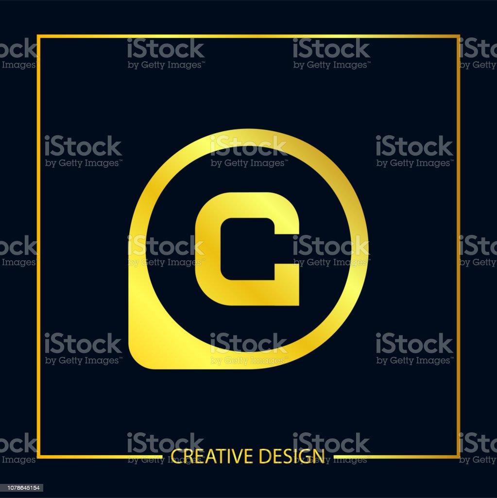 5ea5465560 Letra inicial C modelo de logotipo Design ilustração vetorial vetor de  letra inicial c modelo de