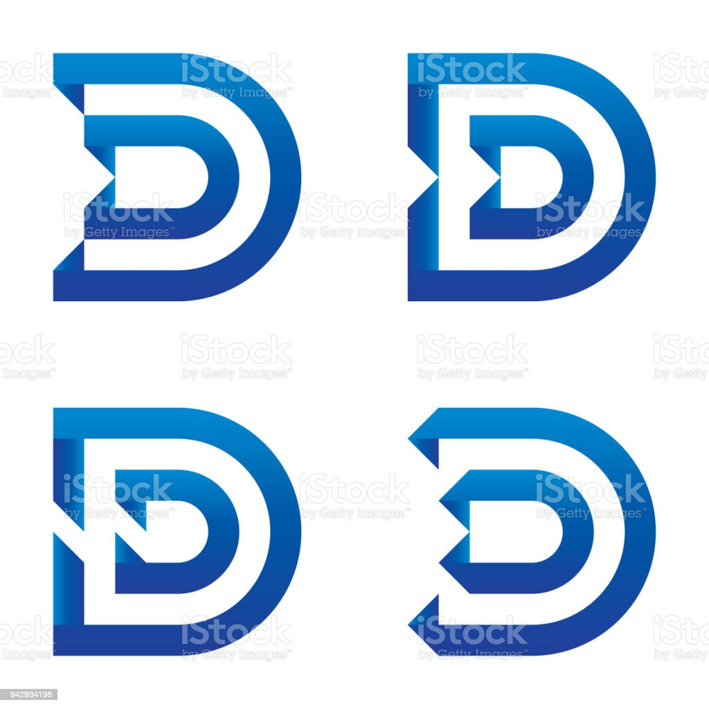 Alphabet Of Printed Circuit Boards Easy To Edit Capital Letter C Stock Editabstract Board Initial D Logo Icon Set Clean Blue Design Template Royalty Free