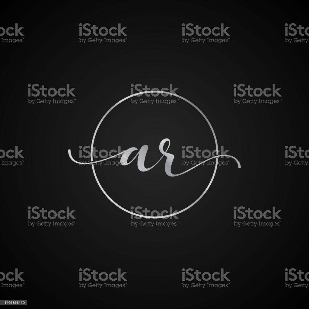 AR initial letter elegant symbol template vector label packaging...