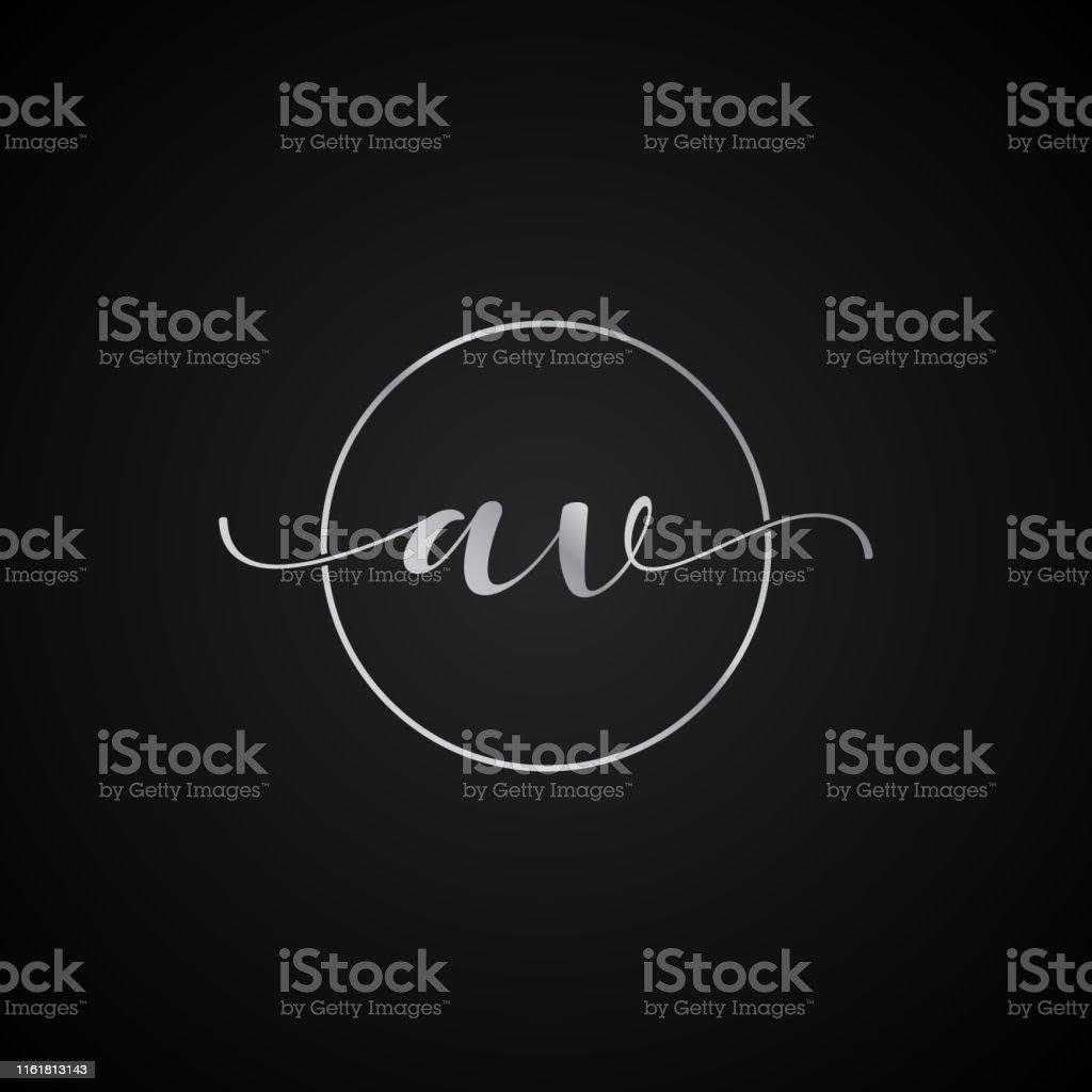AV initial letter elegant symbol template vector label packaging...