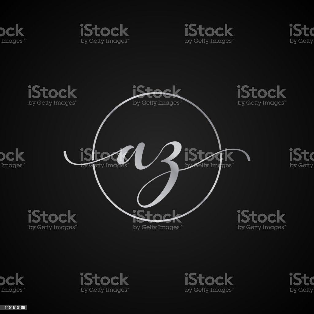 AZ initial letter elegant symbol template vector label packaging...