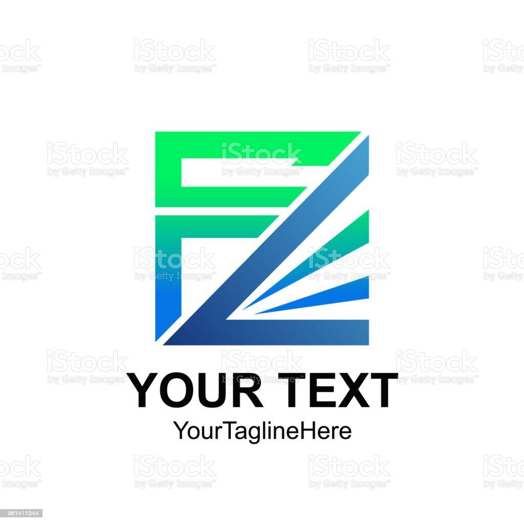 2907d1178c19f Lettre initiale FL ou FC modèle coloré carrée création de logo pour  identité d'entreprise