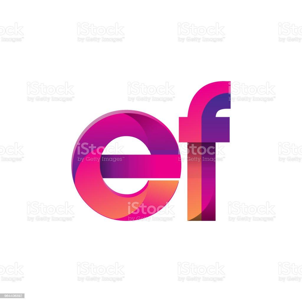 Inicial carta icontype minúsculas, magenta e laranja. - Vetor de Abstrato royalty-free