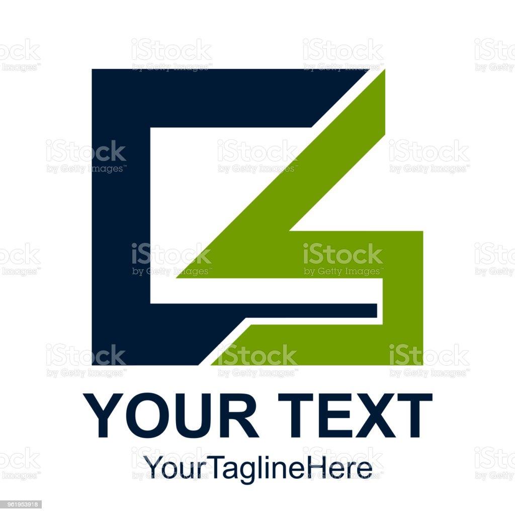 Anfangsbuchstaben Cs Logo Design Vorlage Element Geometrischen ...