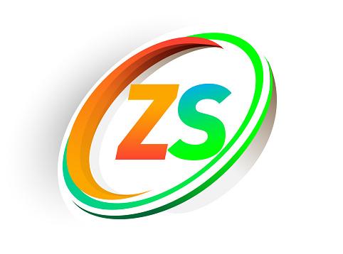 Vetores de Nome Da Empresa Logotipo Inicial Carta Colorido Círculo Laranja E Verde E Swoosh Projeto e mais imagens de Abstrato