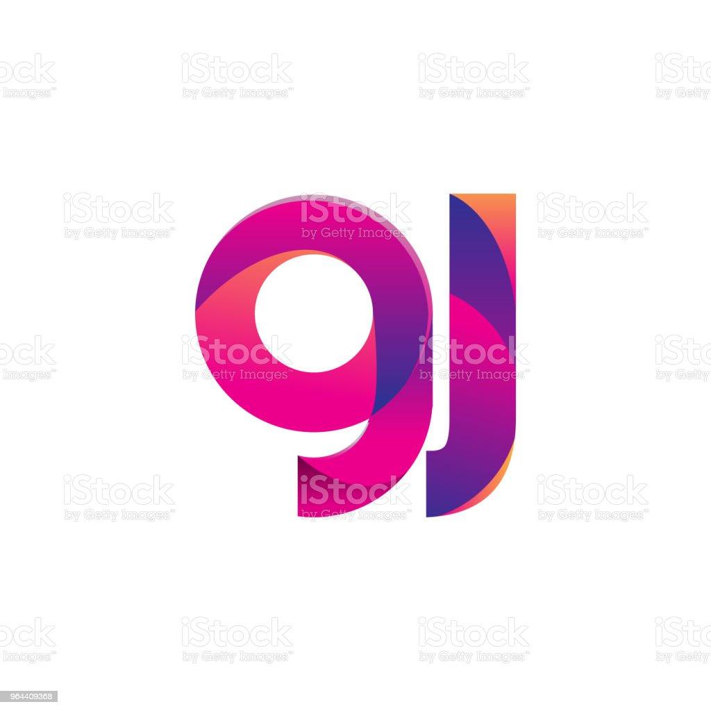Eerste brief Logotype kleine letters, magenta en oranje. - Royalty-free Aanbrengen vectorkunst