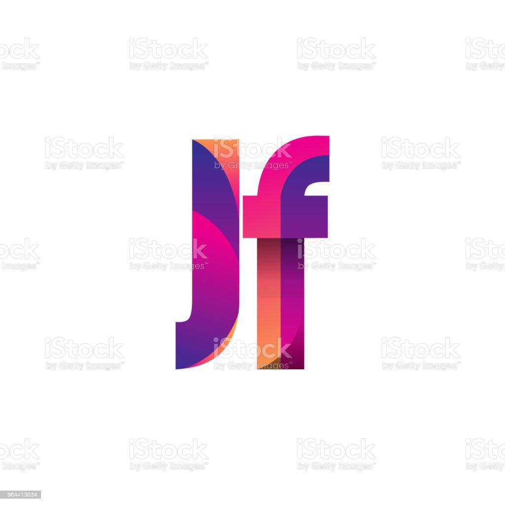 Eerste brief Logotype kleine letters, magenta en oranje. - Royalty-free Aanbrengen Stockillustraties