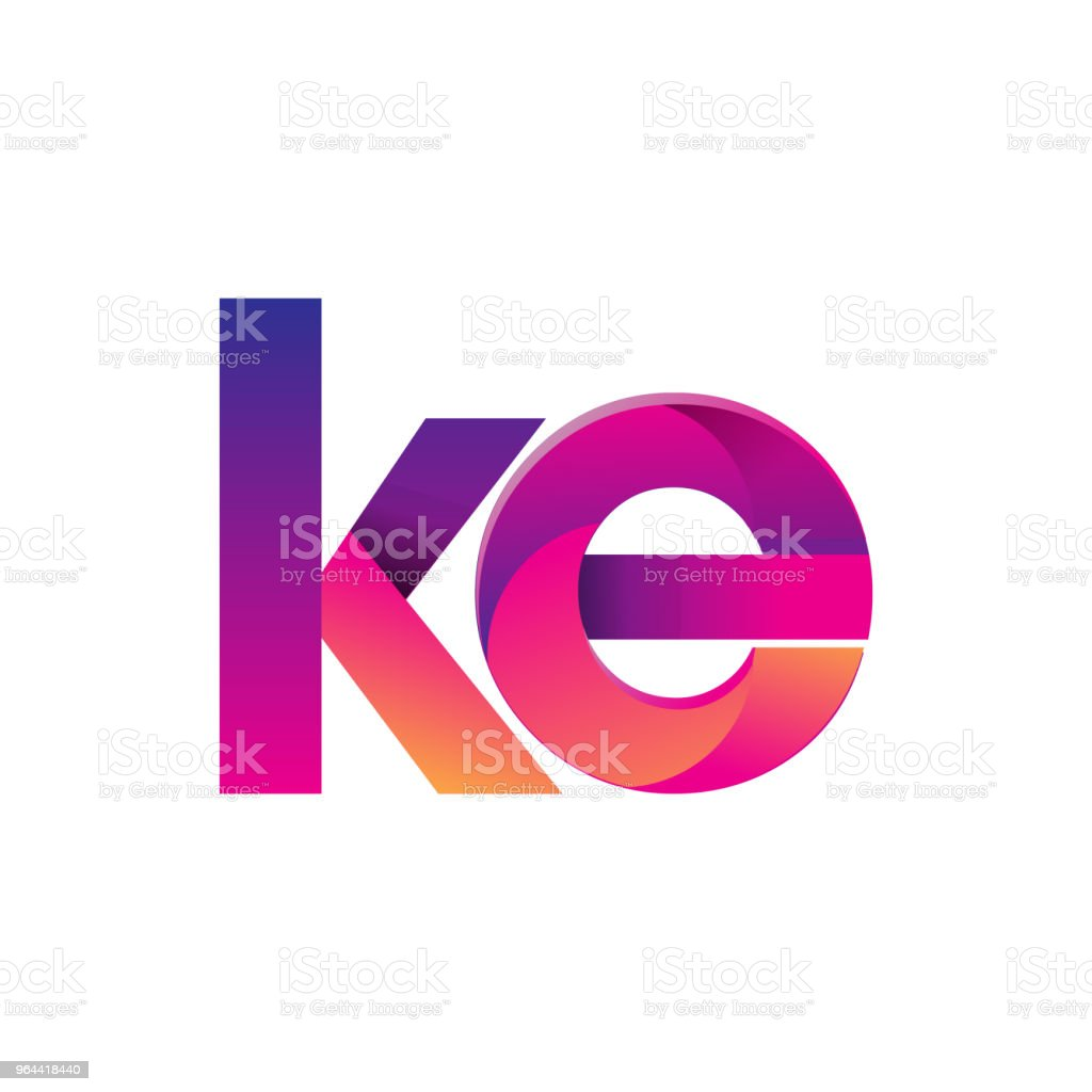 Initial Letter Logotype Lowercase, magenta and orange. - Royalty-free Abstract stock vector