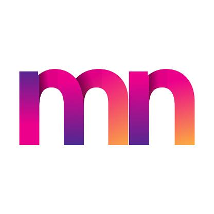 Vetores de Inicial Letra Logotipo Em Letras Minúsculas Magenta E Laranja e mais imagens de Abstrato