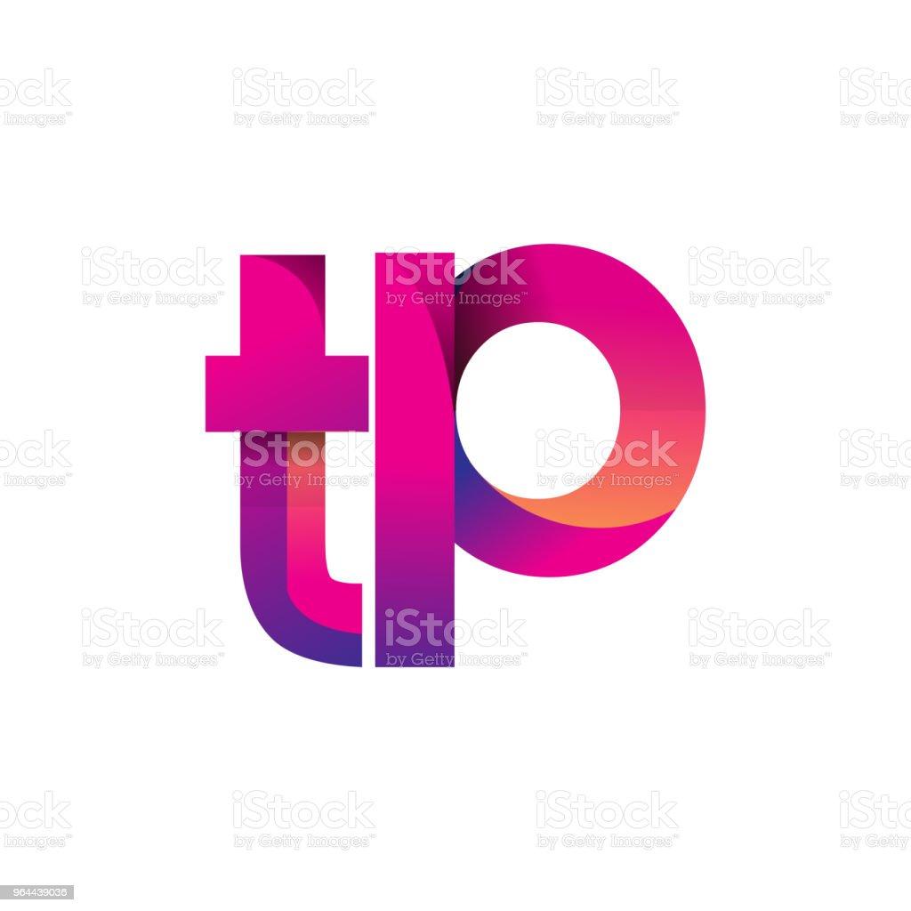 Eerste brief Logotype kleine letters, magenta en oranje - Royalty-free Aanbrengen vectorkunst