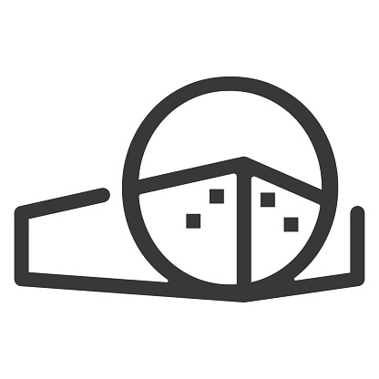 initial letter o real estate icon design for architect, house, building company