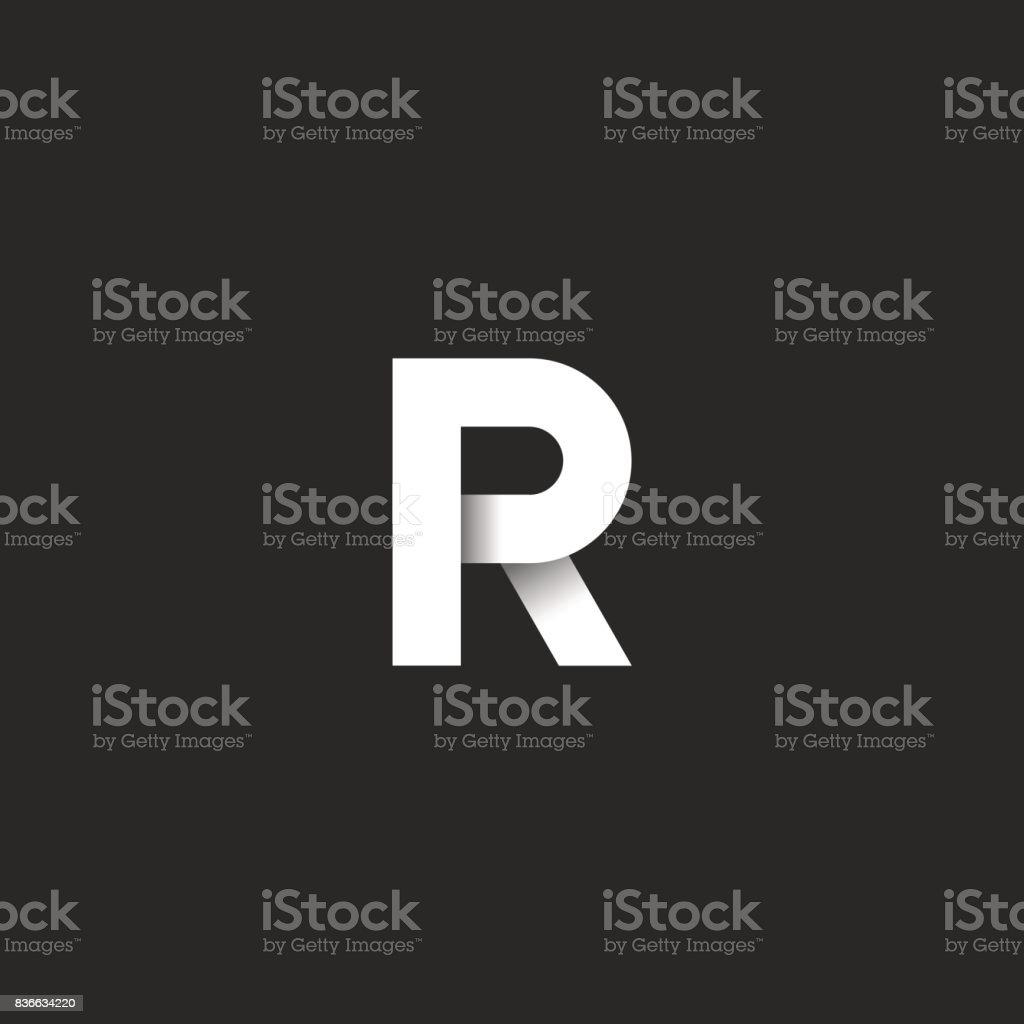 Anfangsbuchstabe R Fette Schrift Weißen Farbverlauf Linearen