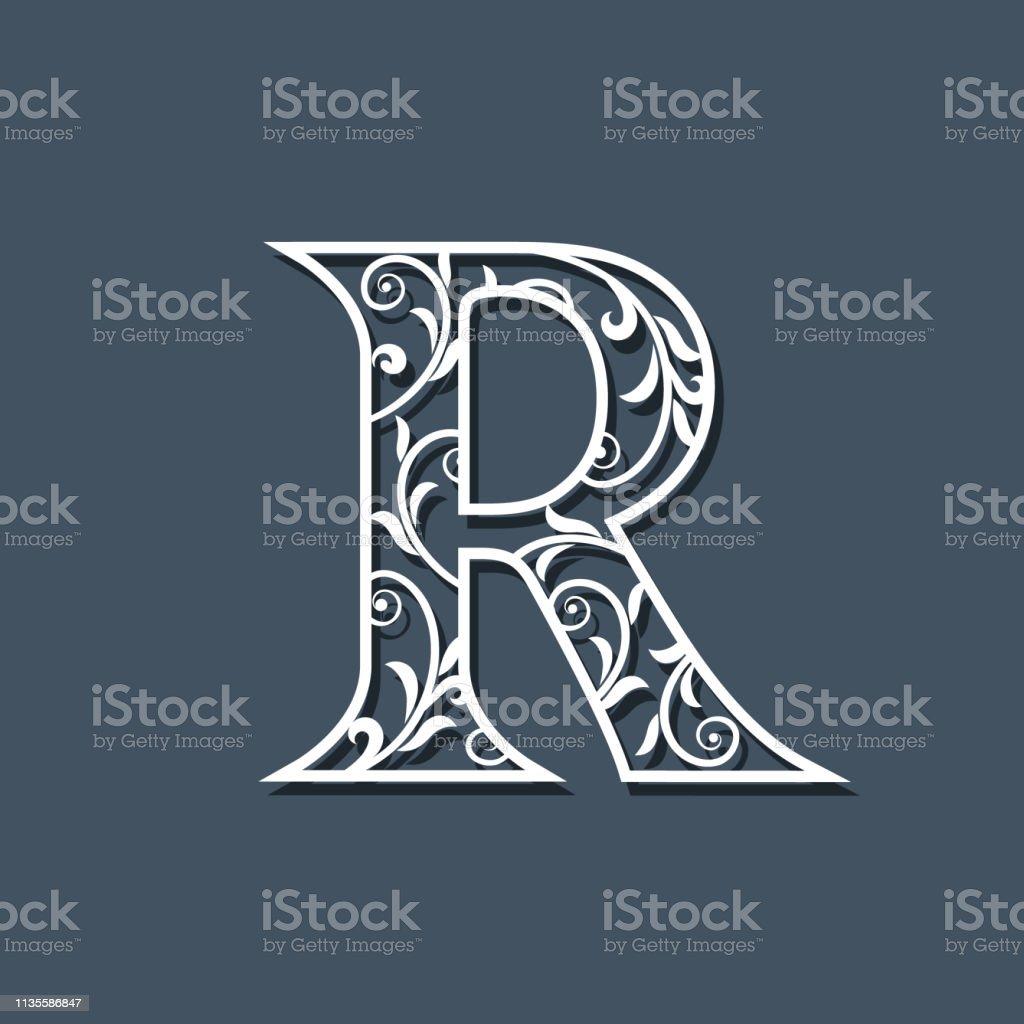 Initial Letter R Floral Monogram Template Filigree Logo ... - photo #14