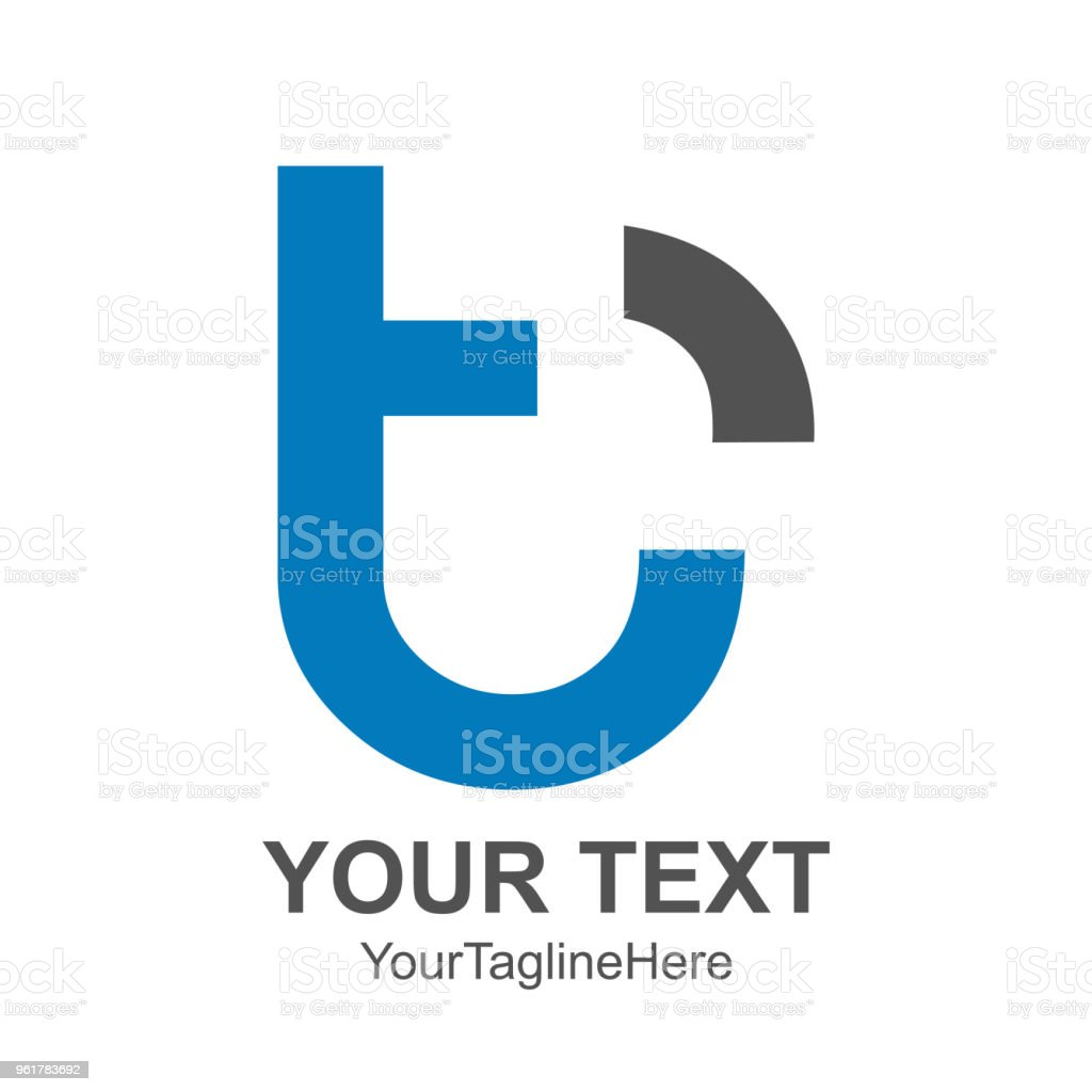 initial letter t logo template colored blue black signal design for business and company identity royalty