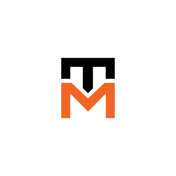 Initial letter TM logo line unique modern. Initial letter logo line unique modern. Initial letter TM logo line unique modern. Initial letter logo line unique modern letter t stock illustrations