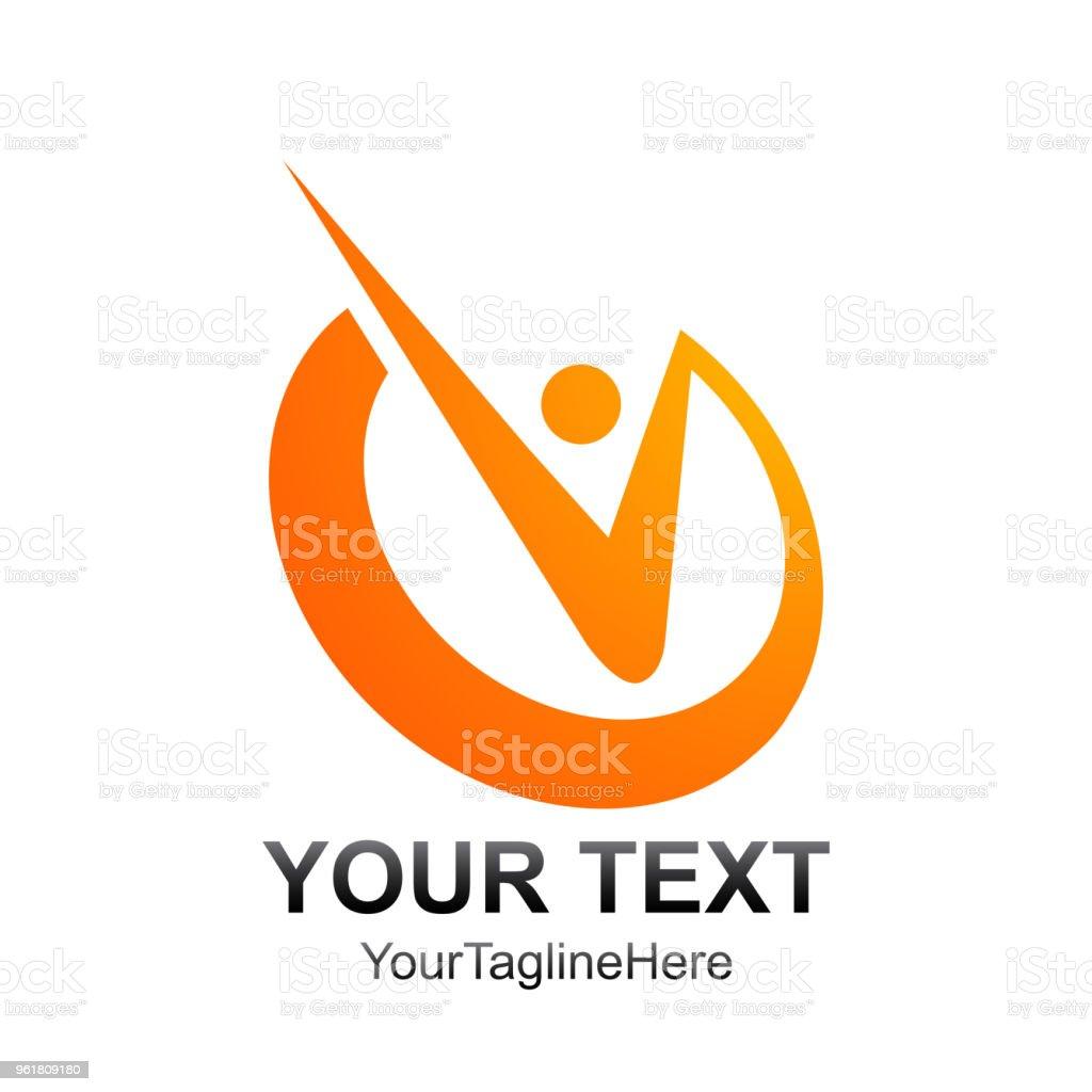 Ilustración de Plantilla De Logotipo Letra Inicial V Color Diseño ...
